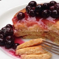 Blueberry Sauce and Lemon Pancakes