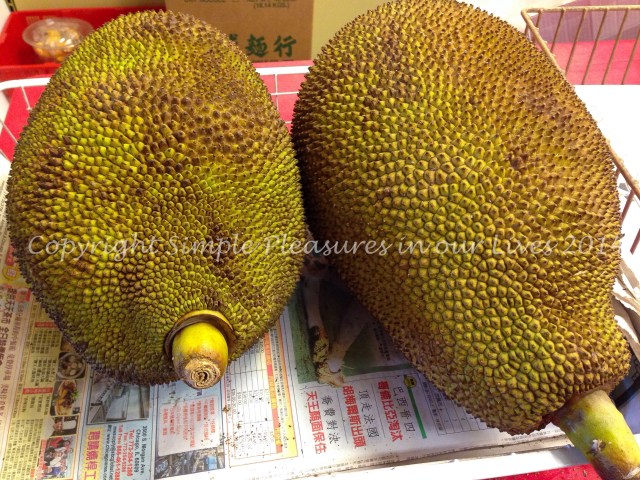 I was really tempted to get one of these jackfruit but uh...how are we going to finish it?