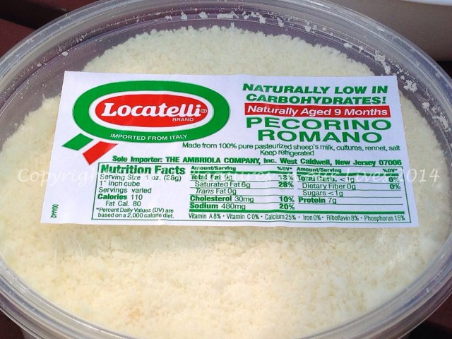 Locatelli Pecorino Romano - easily one of our top three favorite cheeses!