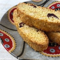 Cranberry and Almond Citrus Biscotti