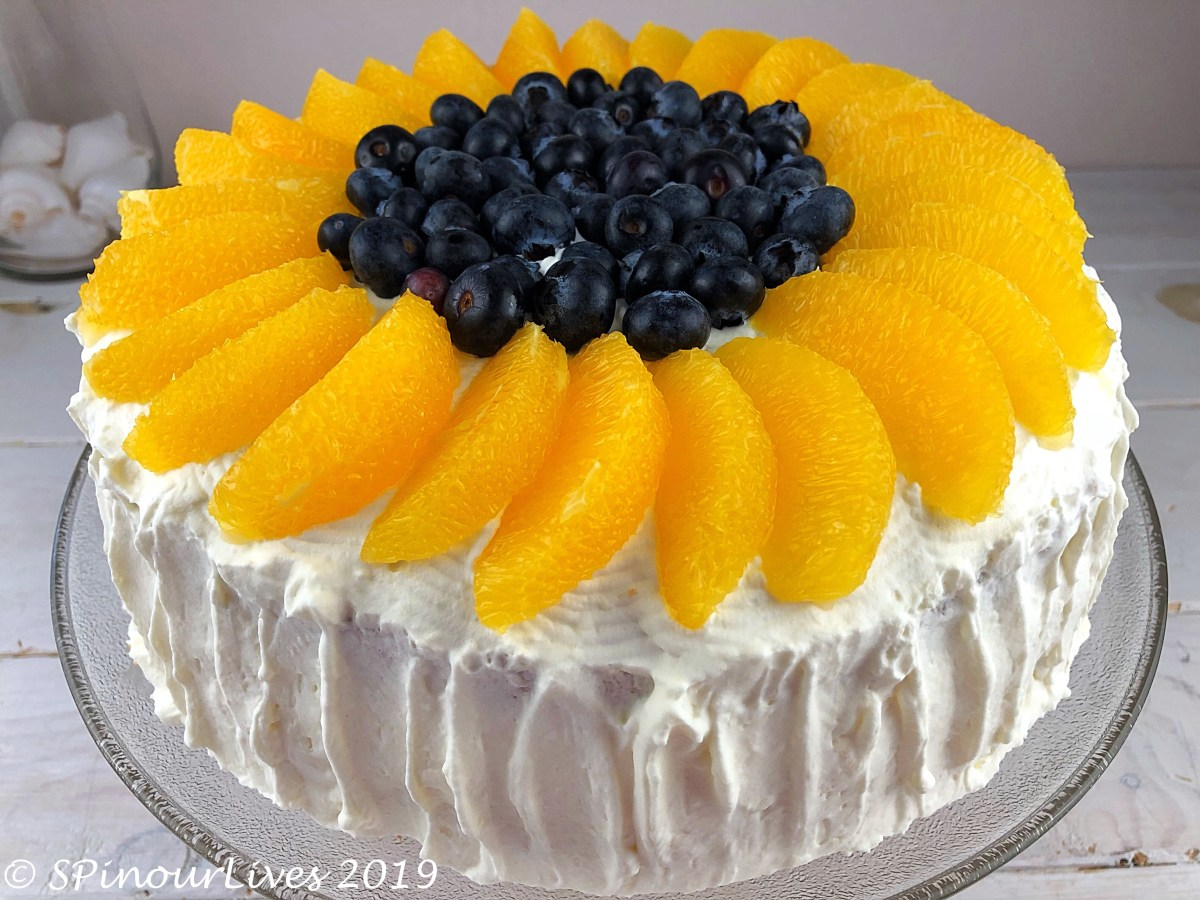 Vanilla Chiffon Cake with Fruits and Cream Round 2