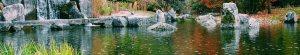 wide reflective pond