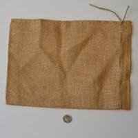 small burlap bag for barley
