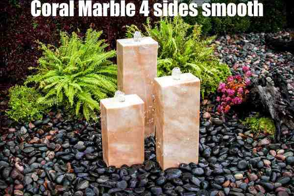 coral marble 4 sides smooth