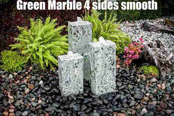 green marble 4 sides smooth