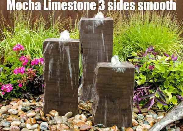 mocha limestone 3 sides smooth