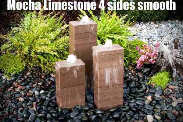 mocha limestone 4 sides smooth