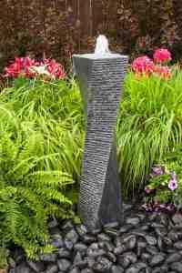 twisted granite fountain