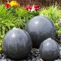 triple granite sphere fountain