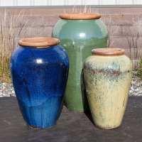 tuscany medium tricolor triple vase fountain