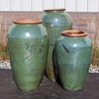 tuscany tall green vase fountain