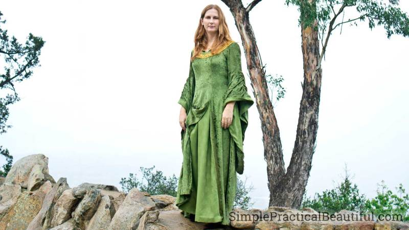 Eowyn costume green dress from The Lord of the Rings
