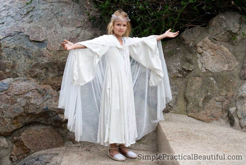 Galadriel costume cape and white dress