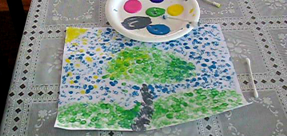 Children's Pointillism Painting | SimplePracticalBeautiful.com