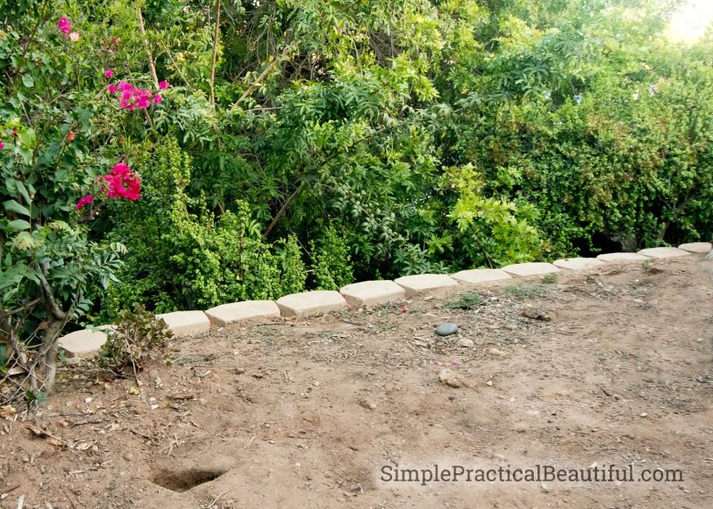Retaining Wall on a Slope | SimplePracticalBeautiful.com