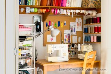 How I turned my closet into a sewing room | SimplePracticalBeautiful.com