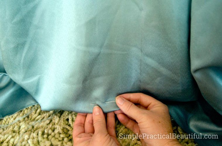 How to hem curtains