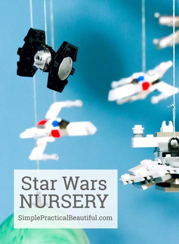 Star Wars nursery mobile and Wampa rug | SimplePracticalBeautiful.com