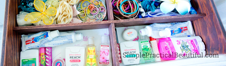 How to build your own bathroom drawer organizer