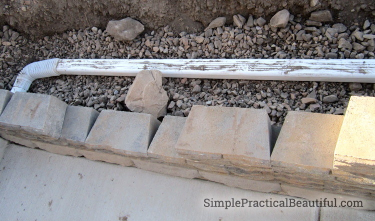 How to build a small retaining wall with drainage