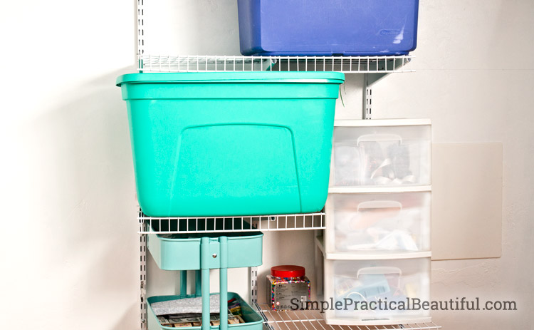 Tween closet reorganization - wire shelves