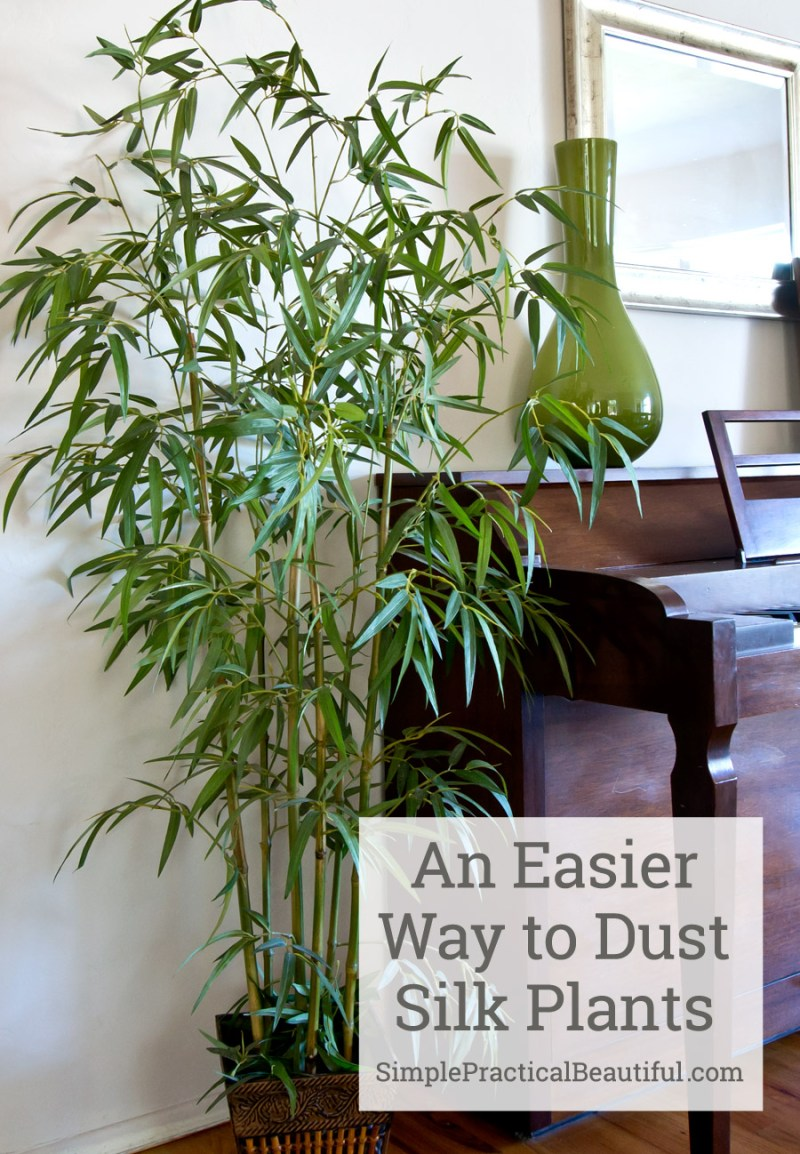 This is so much easier than dusting fake plants with a dust cloth, and so much better for allergies.