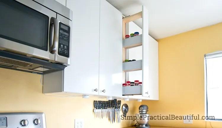 Custom cabinet in an IKEA kitchen remodel
