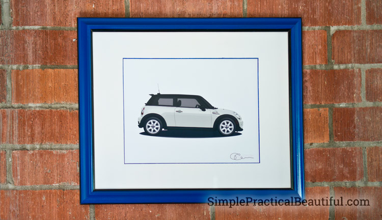 car-custom-illustration-framed
