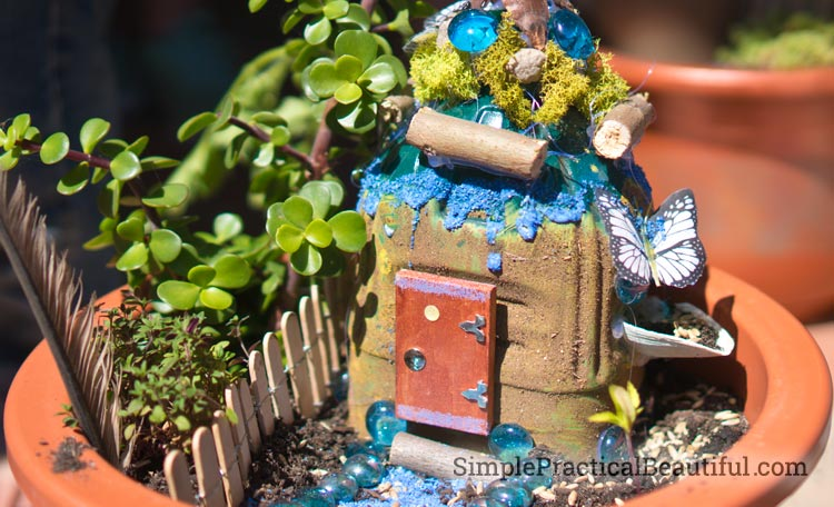 A fairy garden birthday party where each guest creates their own personal fairy garden