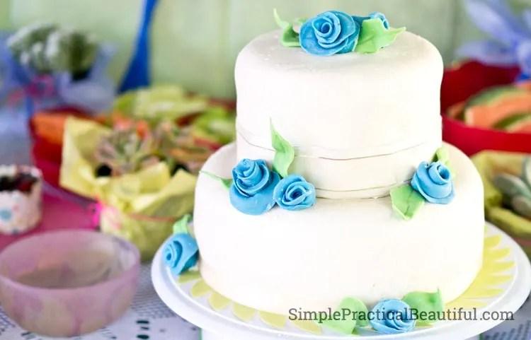 A fairy garden party cake