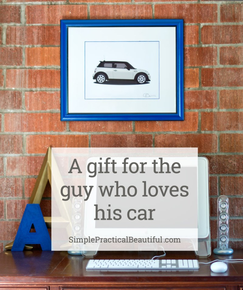 The perfect gift for the guy that loves cars: A custom illustration of his favorite car