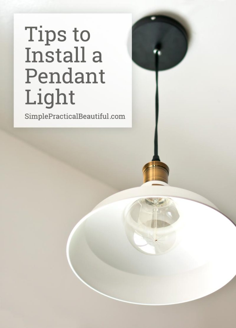 pendant light wiring instructions