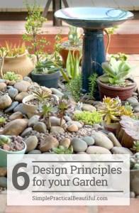 Design a beautiful garden in your backyard using these 6 basic design principles