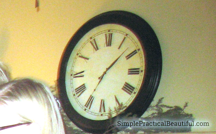 Update an old clock by refinishing the clock frame and creating a new clock face
