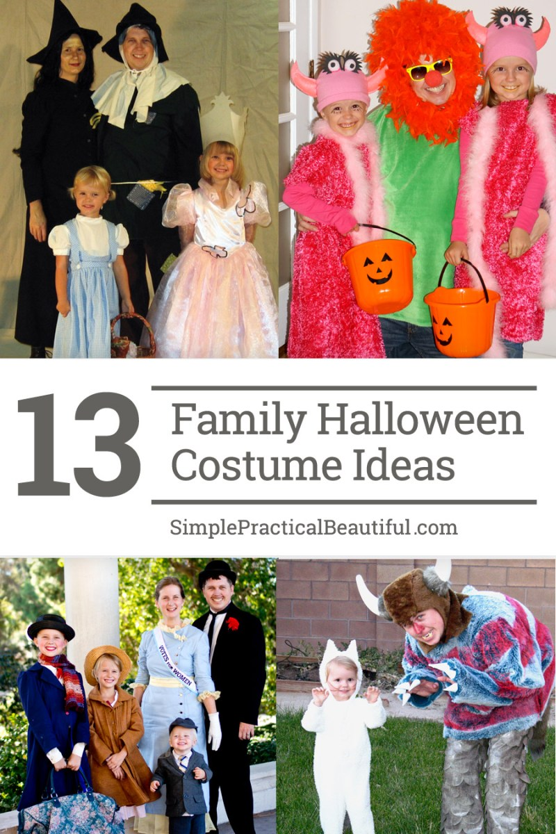 Lots of ideas for family, group, and couple theme Halloween costumes, including Wizard of Oz, Sleeping Beauty, and Toy Story.
