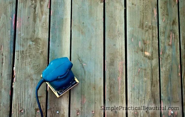 sanding-the-deck