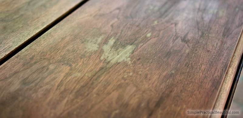 How to repair damaged, gray wood on furniture