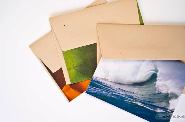 Make professional looking note cards from your own photos | Free Microsoft Word Template | Personalized Notecards