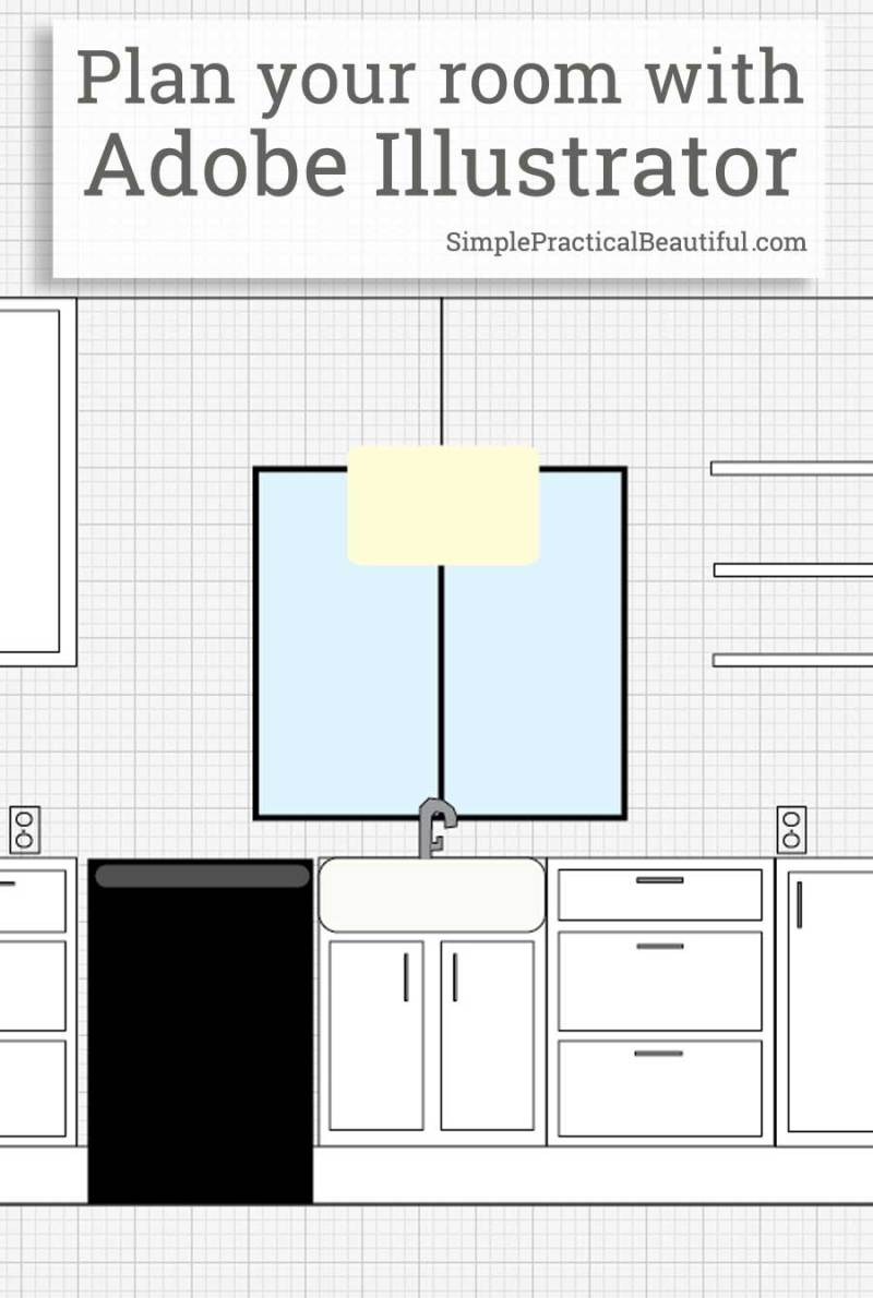 Use adobe illustrator to plan a room layout simple for Easy room planner