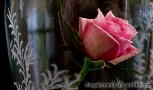 Beauty and the Beast rose   How to make the enchanted rose and cloche from Disney's movie   Etching a glass cloche