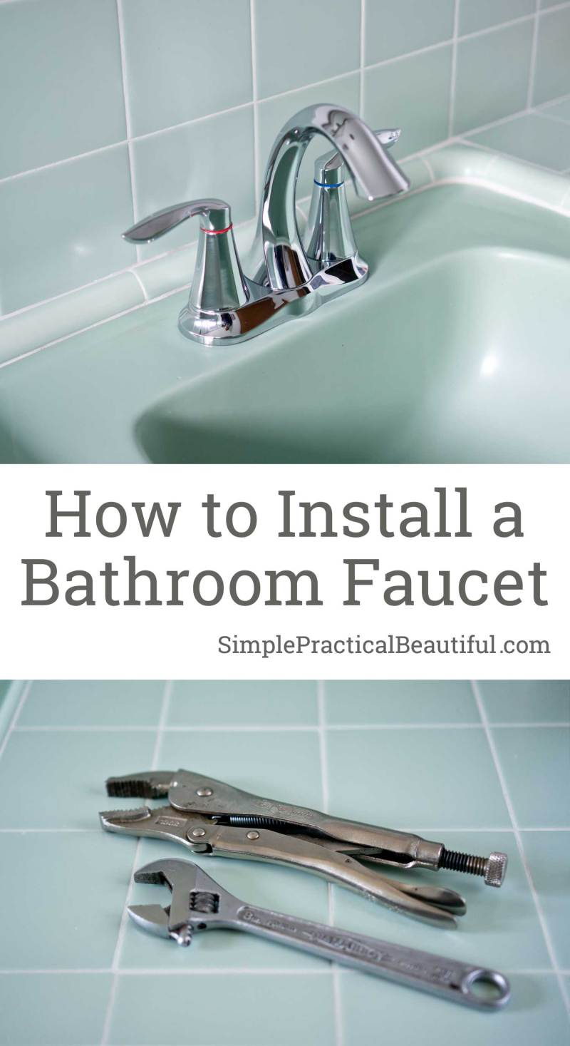 How to Install a Bathroom Faucet - Simple Practical Beautiful How To Install A Bathroom Faucet on exterior install a faucet, install vanity faucet, removing delta shower faucet, how put on a curtain to a bathroom sink,