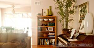 How to refinish a bookshelf or any wood furniture with latex paint   furniture makeover   refinishing   painting a bookcase