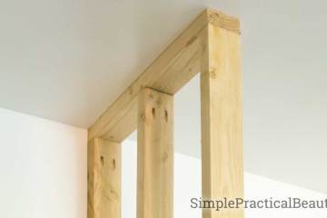 How to frame a wall in place   Building a frame for a wall   home improvement by adding a partition wall   small wall DIY