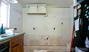 doing a kitchen demolition in phases to keep a working sink