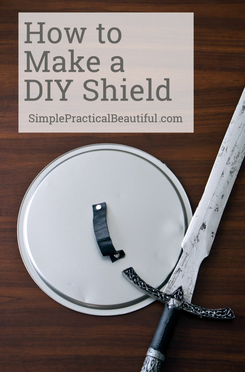 How to make a shield from a pizza pan | a simple DIY shield that's perfect for a Halloween costume or Percy Jackson party