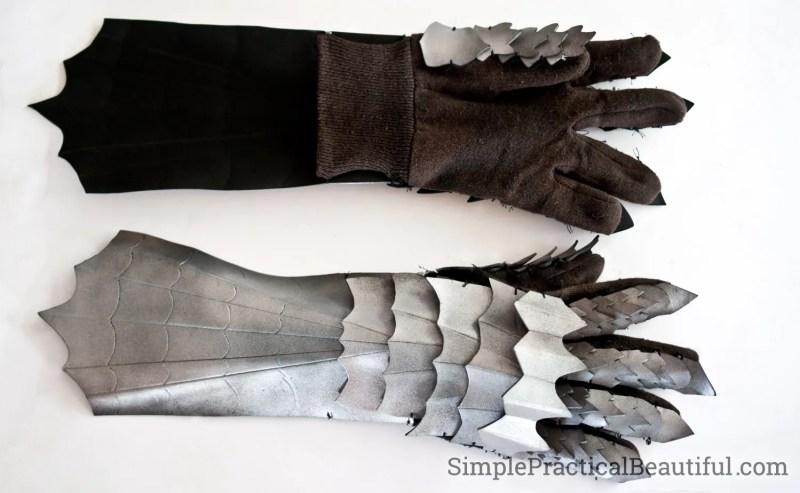 DIY Nazgul costume gauntlets or gloves