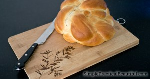 Decorate a cutting board with wood burning