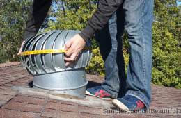 Measure the turbine roof vent to make a DIY cover