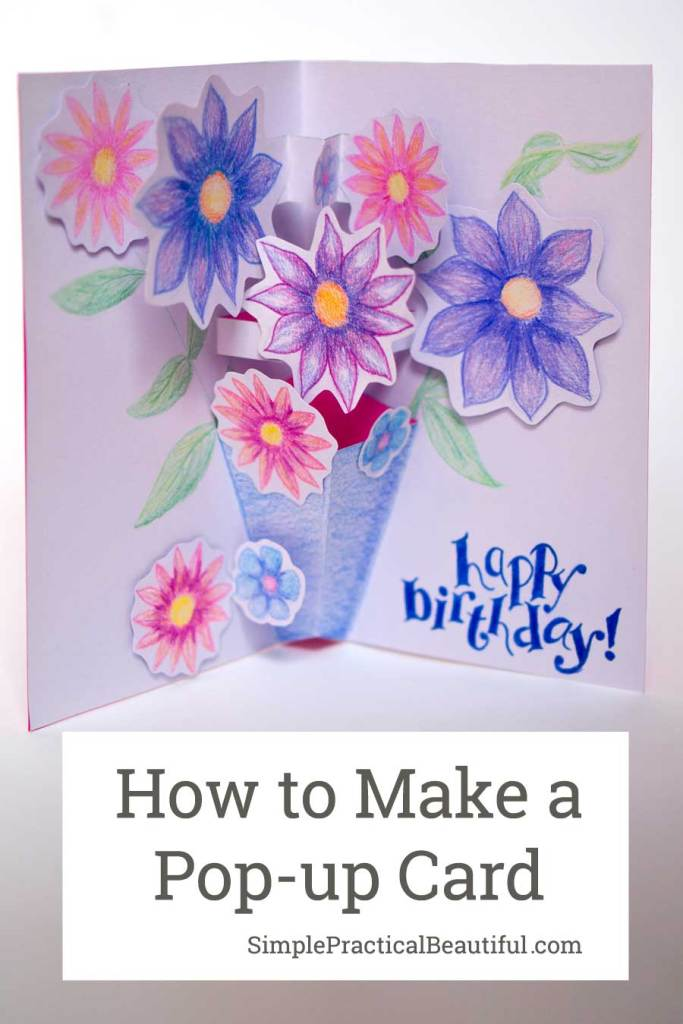 How to make a pop-up card with paper and colored pencil | Inspired by Paddinton 2 | DIY craft | birthday card idea | Valentine card idea | Mother's Day card idea