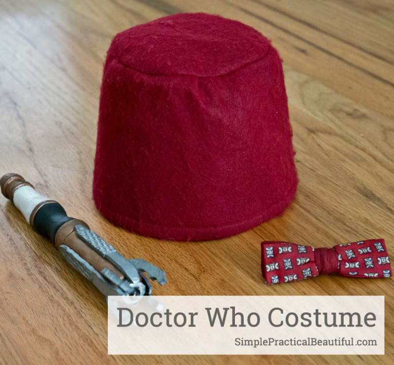 How to make the Doctor Who fez for you costume or cosplay, includes a free pattern